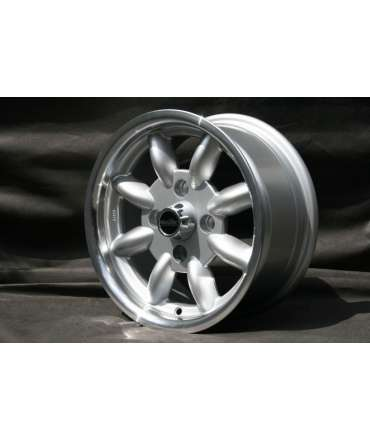 Roue alliage - Minilite - Roue Minilite silver/polished 6x13 perçage 4x108 alésage 63,4mm par Pneu collection
