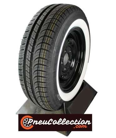 Pneu flanc blanc/liseré blanc - MICHELIN - Pneu Michelin 185/70R14 88H Energy saver+ flanc blanc 50mm (2' ) par Pneu collection