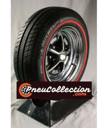 Pneu flanc blanc/liseré blanc - MICHELIN - Pneu Michelin 205/60R15 91V Energy Saver + redline 10mm ( 3/8') par Pneu collection