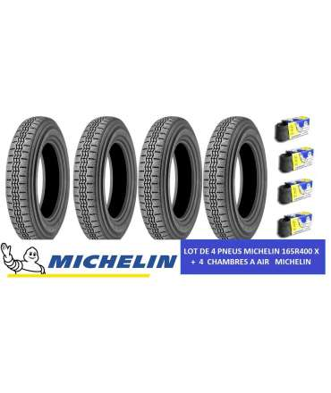 Pneus autos - MICHELIN - LOT 4 PNEUS MICHELIN 165R400X+ 4 CHAMBRES MICHELIN par Pneu collection