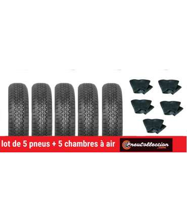 Pneu radial - Cinturato - LOT DE 5 PNEUS 125R12 CINTURATO CN54+5CH 125x12 TR13 par Pneu collection